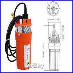 Deep Well Submersible Water Pump 12V + 120W Mono Folding Solar Panel Emergency