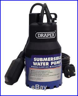 Draper 120l/min 200w 230v submersible water pump with 6m lift and float switch