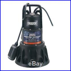 Draper 320L/Min 1000W 230V Submersible Dirty/Clean Water Pump with Float Switch