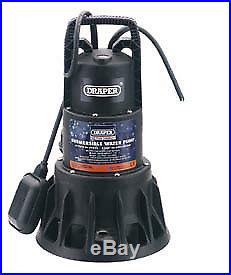 Draper 320L/Min 1000W 230V Submersible Dirty Water Pump With Float Switch