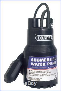 Draper 52064 120L/Min 110V Submersible Water Pump with 6M Lift and Float Switch