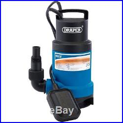 Draper 61621 Submersible Sub Dirty Water Pump Float Switch & Flat Hose & Clamp