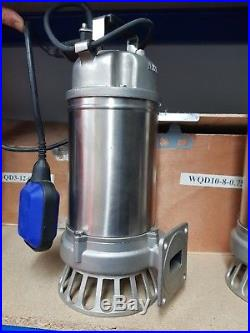Electric S/s Macerator Cutter Submersible Pump For Clean Or Dirty Water