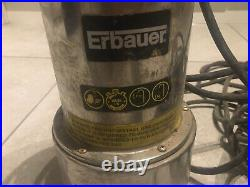 Erbauer 1000w Submersible water Pump New 240v ERB080PMP stainless steel dirty