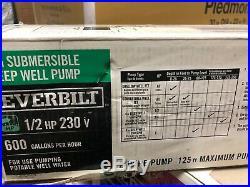 Everbilt 1//2 HP Submersible 2-Wire Motor 10 GPM Deep Well Potable Water Pump