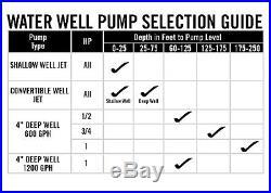 Everbilt EFSUB7-123HD 3/4 HP Submersible 3-Wire Deep Well Potable Water Pump