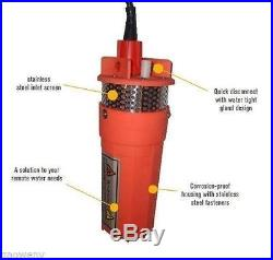 Farm&Ranch SOLAR POWERED Submersible DC Water Well Pump 24V 230FT+ Lift US Ship