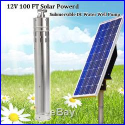Farm Solar Screw 12V 2m3/h 30M Deep Submersible Stainless Steel Well Water Pump