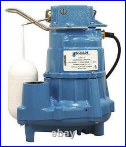 GOULDS WATER TECHNOLOGY GSP0511 HP 1/2, Sump Pump, Vertical Float