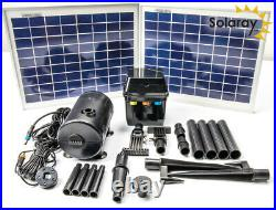 Garden Outdoor Solar Pump Kit with Lights Water Fountain by Solaray 1200LPH