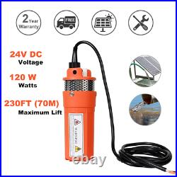 Generation 200W 24V Solar Panels & DC Deep Well Submersible Water Pump System