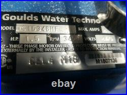 Goulds Water Technology Ws1534bhf Pump Sewage Submersible, 1-1/2 Hp, 460 V