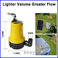 Grid-off 12V Submersible Garden Pond Water Pump Battery System Kits+Solar Panel