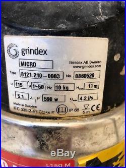 Grindex submersible water pump 110v
