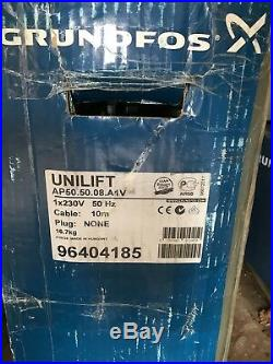 Grundfos Unilift AP 50.50.08. A1v, 240V Dirty Water Pump Floatswitch #1079