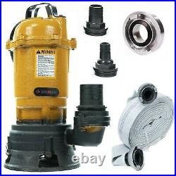 Heavy Duty Submersible Sewage Dirty Waste Water Pump with HOSE TO PUMP 20M