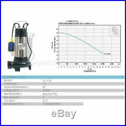 Heavy Duty Submersible Sewage Water Pump With Shredder Cutter Power1100W