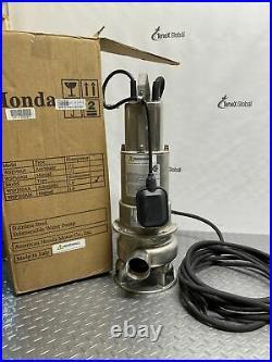 Honda Self-Priming Submersible Trash Water Pump 9000GPH 1HP 2 Port 611100 P-12
