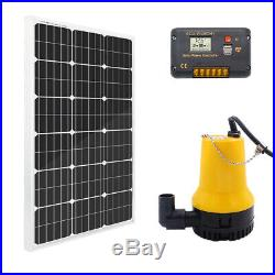 Hot Solar Water Pump System Kit with100W Solar Panel & 20A Controller for Watering