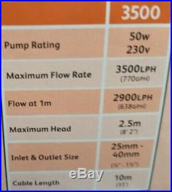 Hozelock Aquaforce 3500lph Solids Handling Submersible Water Pump