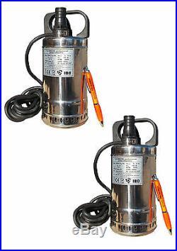 IBO 2 X SWQ180 Submersible Water Pump. 70 l/min HEAD 5,5m NICE & SMALL flood
