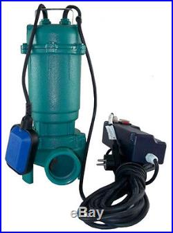 IBO CTR550 W, 40ft, 230V Submersible Sewage Dirty Water Septic Sump Pump w. Grinder