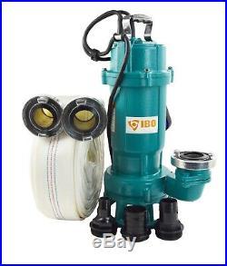 IBO FURY550 Submersible Sewage Dirty Water Septic Sump Pump + grinder + 20m hose