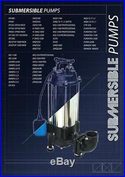IBO H-SWQ1800 1.8kW Submersible Water Pump Drain Irrigation Dewatering 53m 230V