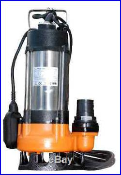 IBO Heavy Duty WQF750W 1HP Submersible Sewage Dirty Water Pump Float Switch 230V