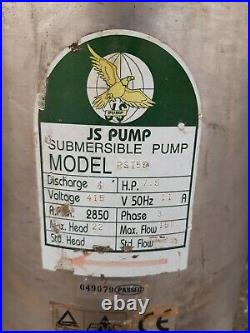JS RST-55 4 LARGE INDUSTRIAL SUBMERSIBLE WATER DRAINAGE PUMP 415v (3 PHASE)