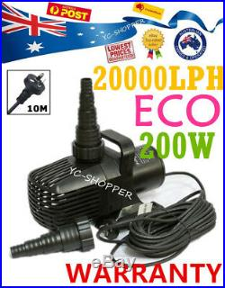 Jebao ECO 20,000L/H Soft Solid Submersible Pond Pump Water Feature 200W Only