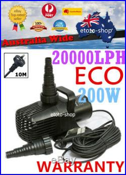 Jebao Eco Energy Saving Submersible Pond Water Pump 20,000L/H 200W Only