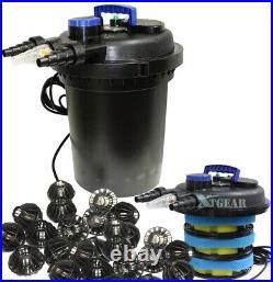 KOI Pond Pressure Bio Filter 10000 Liter with 3434GPH 120V Submersible Water Pump