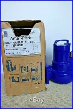 KSB AMA Porter 601 NE-1 (UK) 240v submersible waste water pump No 39017580