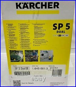 Karcher SP5 DUAL Dirty Water & Clean Water Pump Float Switch New 5yrs Wrnty BNIB