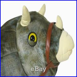 Kids 6 Volt Jurassic World Triceratops Plush Ride On Home Indoor Outdoor Play