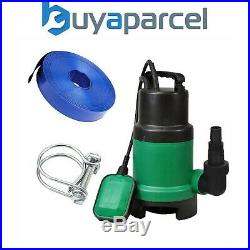 Kingfisher Submersible Dirty Water Pump 240v DIYPUMP 400w & Layflat Hose 10m