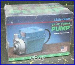 Little Giant submersible water pump 3E-12N, drains, recirculates 500 GPH