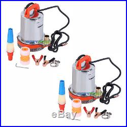Lot of 2, DC 12V Farm & Ranch Deep Well Submersible Water Pump, Solar, Battery