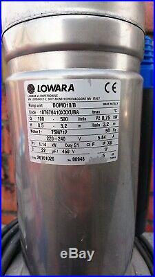 Lowara DOMO 10/BGX Submersible Pump 230v (ebara, flygt, grundfos, caprari) water
