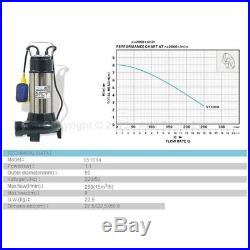 MERRY 151614 Submersible Sewage Water Pump With Cutter Shredder 1100W