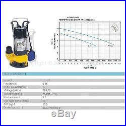 MERRY Heavy Duty 450W Submersible Sewage Dirty Waste Water Pump Floating Switch