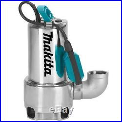Makita Pf1110 240 Volt Submersible Drainage Dirty Water Pump 250 Litre