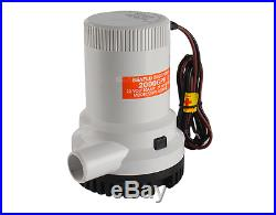 NEW 12V SUBMERSIBLE BOAT BILGE WATER PUMP 2000GPH / 7550LPH Compare to Rule