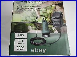 NEW & SEALED Bosch GardenPump 18 Cordless + 2.5Ah Li-ion Battery 06008C4270 UK