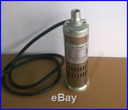 New 12V Dc 396W Solar Submersible Water Well Pump 3M³/Hour M123T-30 30M Head ki
