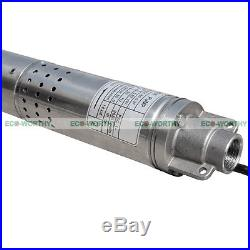 New 2 (50mm) Submersible Bore 0.5 HP Water Pump Deep Well 240V 180ft 8GPM