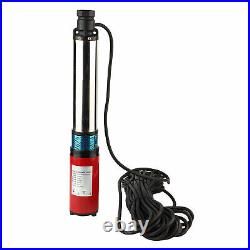 New 48V Submersible Deep DC Solar Well Water Pump 1'' 60V-4/5m³-45/55m 20m Line