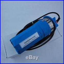 New Blue 24V Stainless Strainer Submersible Deep DC Solar Well Pump Water Pump