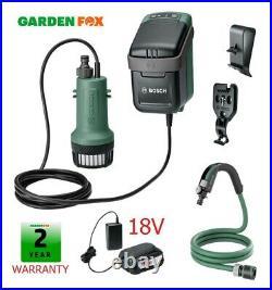 New Bosch 18V GardenPump 18 Rainwater Garden Pump 06008C4270 4059952547886